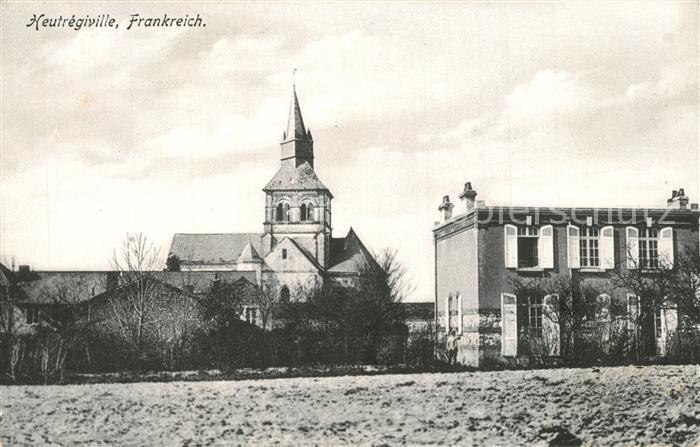AK / Ansichtskarte Heutregiville Blick zur Kirche Feldpost Heutregiville 0