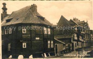 AK / Ansichtskarte Quedlinburg aeltestes Haus Quedlinburg