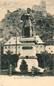 AK / Ansichtskarte Caub Bluecher Denkmal Caub