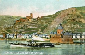 AK / Ansichtskarte Caub Pfalz Burg Gutenfels Caub