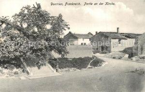AK / Ansichtskarte Dontrien Partie an der Kirche Westlicher Kriegsschauplatz 1. Weltkrieg Feldpost Dontrien