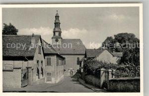AK / Ansichtskarte Alzey Amtsgasse mit evangelischer Kirche Alzey