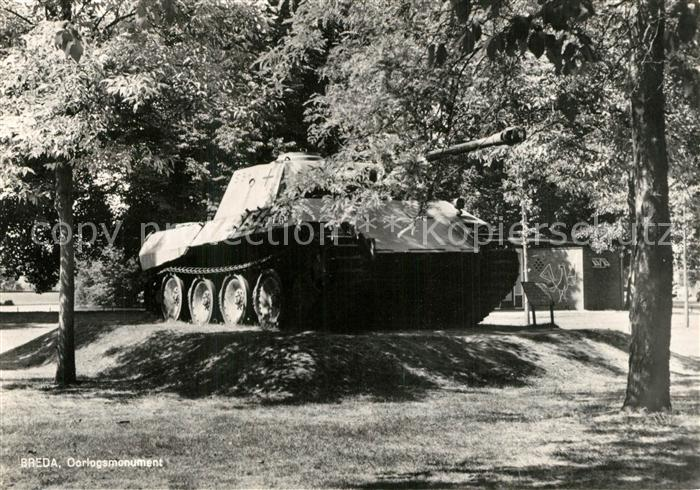 AK / Ansichtskarte Militaria_Panzer Breda Oorlogsmonument  Militaria Panzer