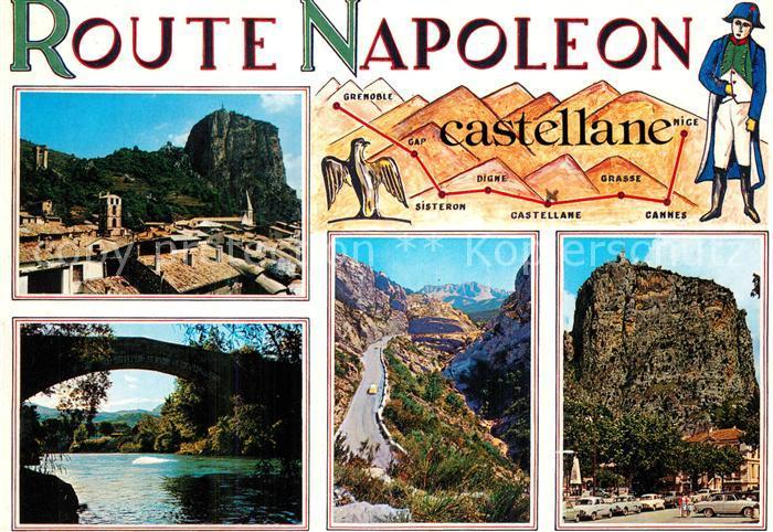 AK / Ansichtskarte Napoleon_Bonaparte Route Napoleon Castellane