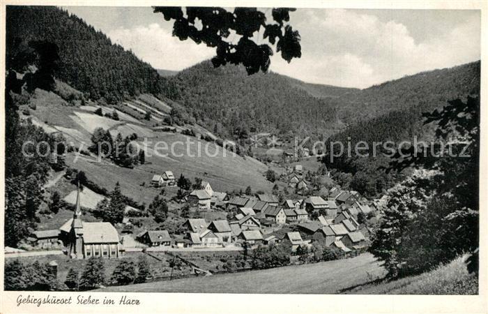 AK / Ansichtskarte Sieber Panorama Kirche Sieber