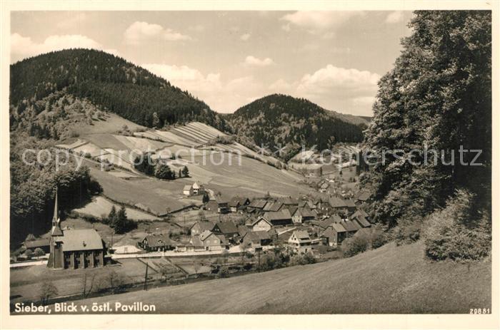 AK / Ansichtskarte Sieber Panorama vom Pavillon Sieber