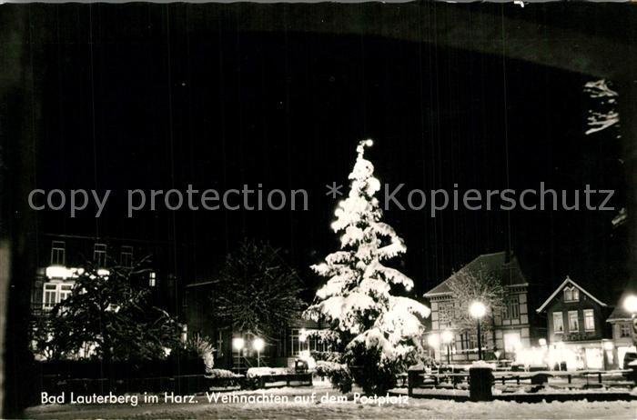 AK / Ansichtskarte Bad_Lauterberg Weihnachten auf dem Postplatz Bad_Lauterberg 0