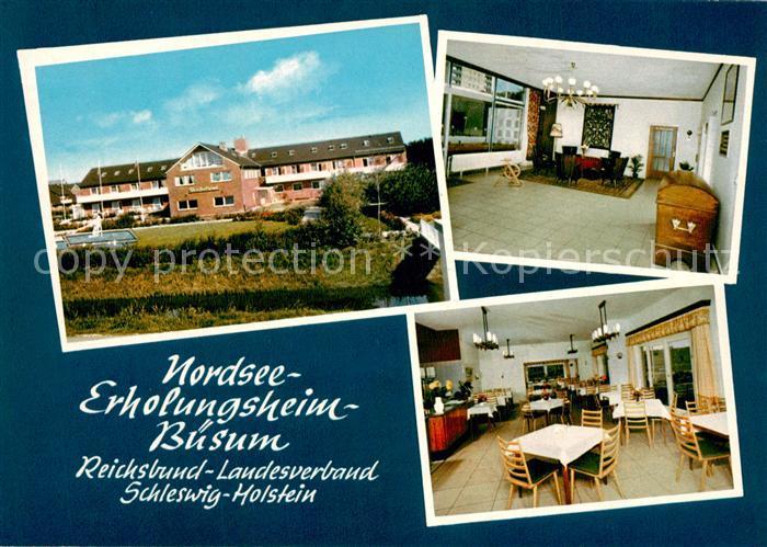 AK / Ansichtskarte Buesum_Nordseebad Nordsee Erholungsheim Reichsbund Buesum_Nordseebad 0