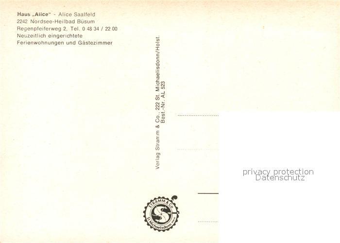 AK / Ansichtskarte Buesum_Nordseebad Haus Alice Buesum_Nordseebad 1