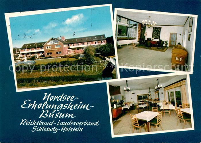 AK / Ansichtskarte Buesum_Nordseebad Erholungsheim Reichsbund Buesum_Nordseebad
