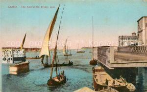 AK / Ansichtskarte Cairo_Egypt Kasr el Nil Bridge  Cairo Egypt