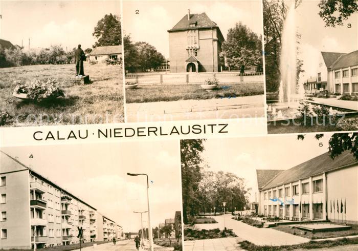 AK / Ansichtskarte Calau Busbahnhof Anlagen Ernst Schneller Oberschule  Calau