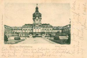 AK / Ansichtskarte Charlottenburg Koenigliches Schloss Charlottenburg