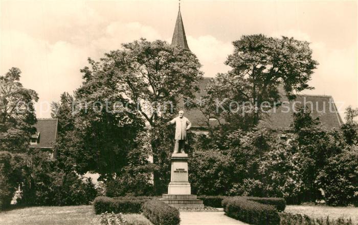 AK / Ansichtskarte Delitzsch Schulze Delitzsch Denkmal Delitzsch