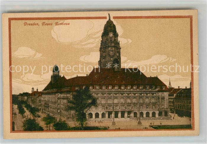 AK / Ansichtskarte Dresden Neues Rathaus Dresden