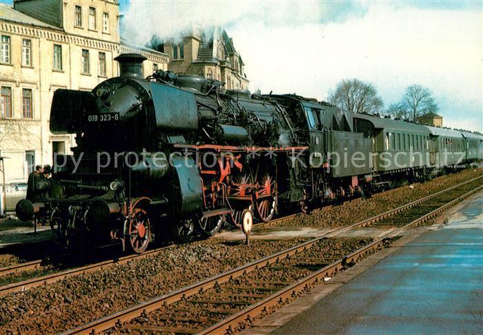 AK / Ansichtskarte Eisenbahn Schnellzug Lokomotive 018 323 6 Lokomotive J. A. Maffei 1920 Eisenbahn