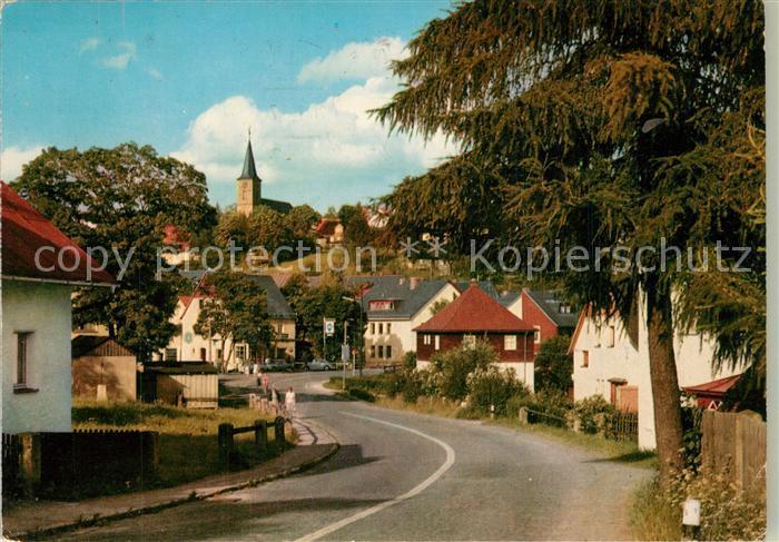AK / Ansichtskarte Fichtelberg_Bayreuth Strassenpartie Kirche Fichtelberg Bayreuth