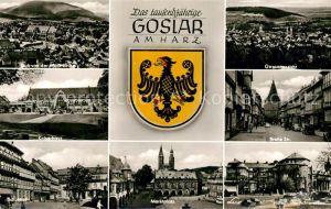 AK / Ansichtskarte Goslar Marktplatz Breite Strasse Hotel Achtermann Kaiserhaus Goslar