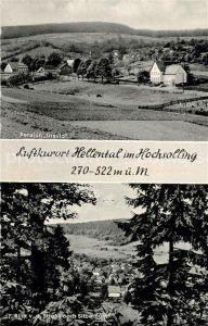 AK / Ansichtskarte Hellental Panorama Pension Ursula Blick von der Strasse nach Silberborn Hellental