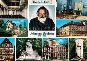 AK / Ansichtskarte Komponist Johannes Brahms Gedenkkarte