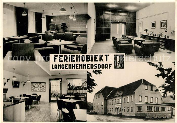 AK / Ansichtskarte Langenhennersdorf Ferienobjekt Tagungsraeume Bar Langenhennersdorf