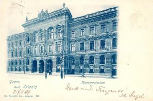 AK / Ansichtskarte Leipzig Konservatorium  Leipzig