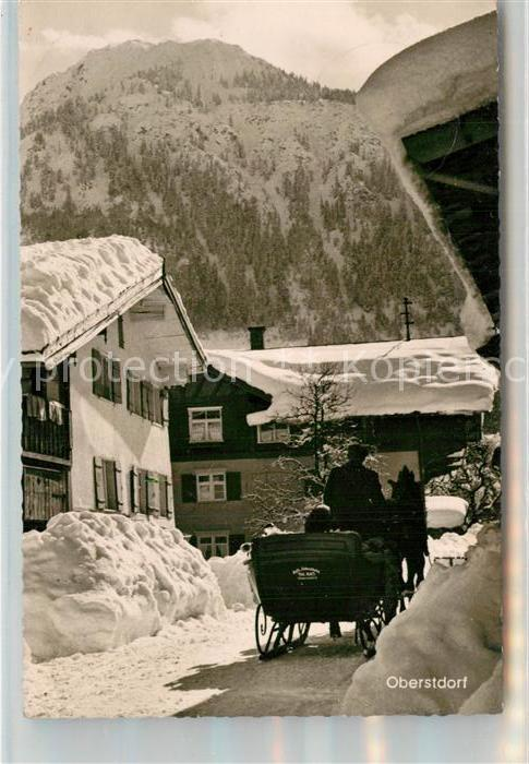 AK / Ansichtskarte Oberstdorf Winteridyll mit Pferdeschlitten Oberstdorf