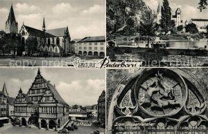 AK / Ansichtskarte Paderborn Dom Paderquellgebiet Rathaus Dom Hasenfenster  Paderborn