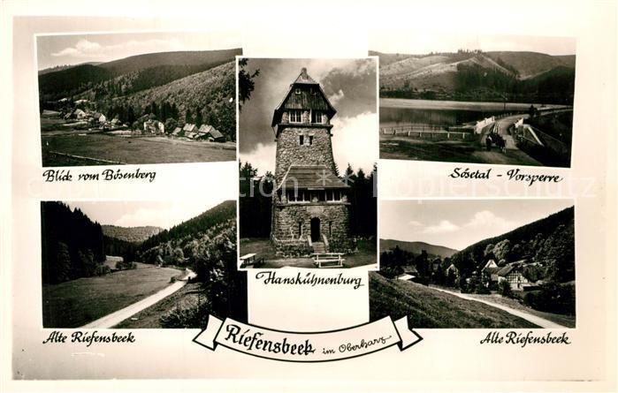 AK / Ansichtskarte Riefensbeek Kamschlacken Boesenberg Soesetal Vorsperre Alte Riefensbeek Hanskuehnenburg Riefensbeek Kamschlacken