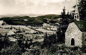 Weschnitz Historische Walburgiskapelle Landschaftspanorama Weschnitz