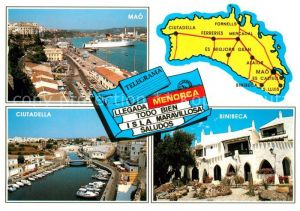 AK / Ansichtskarte Menorca Mao Ciutadella Binibeca Menorca