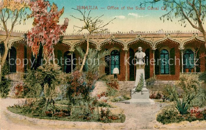AK / Ansichtskarte Ismailia Suez Kanal Buero Denkmal Ismailia