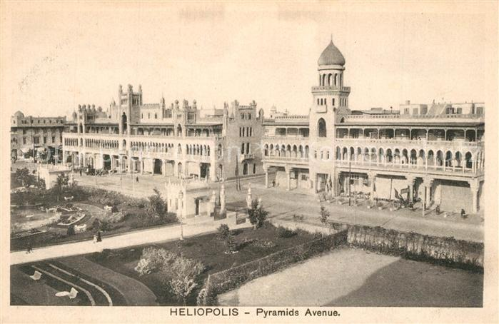 AK / Ansichtskarte Heliopolis Pyramids Avenue Heliopolis