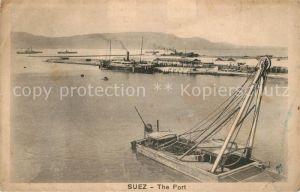 AK / Ansichtskarte Suez Hafen Suez