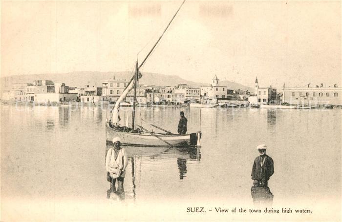 AK / Ansichtskarte Suez Panorama Hochwasser Suez