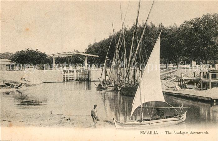AK / Ansichtskarte Ismailia Hafen Fluttor Ismailia