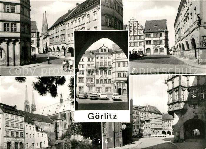 AK / Ansichtskarte Goerlitz_Sachsen Untermarkt Stuve Apotheke Hirschlauben Peterskirche Schoenhof Goerlitz Sachsen
