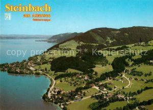 AK / Ansichtskarte Steinbach_Attersee Fliegeraufnahme Steinbach Attersee