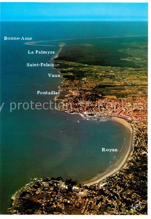 AK / Ansichtskarte Royan_Charente Maritime Cote de Beaute vue aerienne Royan Charente Maritime