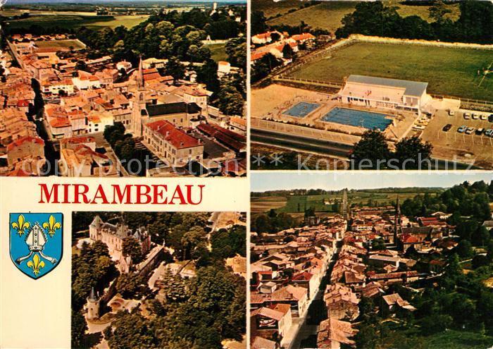 AK / Ansichtskarte Mirambeau_Charente Maritime Fliegeraufnahmen Mirambeau