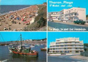 AK / Ansichtskarte Tharon Plage Plage Port et les Residences Fischkutter Tharon Plage