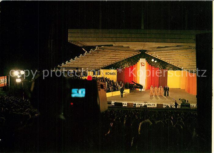 AK / Ansichtskarte Zielona_Gora Amfiteatr w czasie Festiwalu Piosenki Radzieckiej Zielona Gora