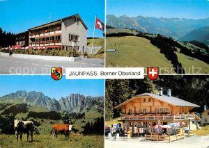 AK / Ansichtskarte Jaunpass Hotel des Alpes Gastlosen Simmental Kiosk Bazar Jaunpass
