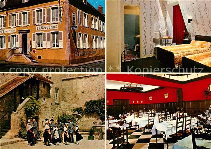 AK / Ansichtskarte Chablis Hotel de l'Etoile Gaestezimmer Speisesaal Chablis