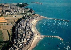 AK / Ansichtskarte Cancale Vue aerienne du port et des digues Cancale