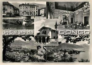AK / Ansichtskarte Dongo_Lago_di_Como Piazza del Municipio Sala d'Oro del Comune Panorama Dongo_Lago_di_Como