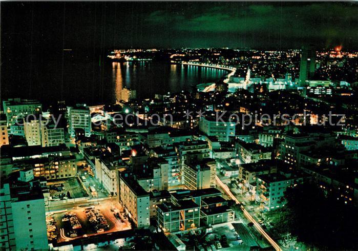 AK / Ansichtskarte Havana_Habana Aerial view of Havana at night Havana Habana