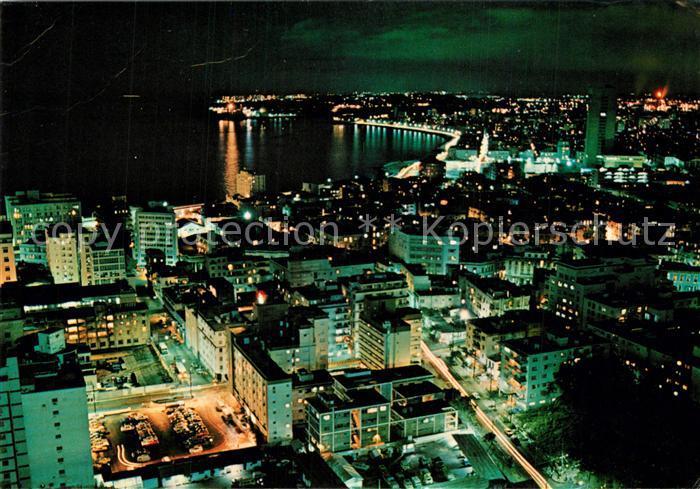 AK / Ansichtskarte Havana_Habana Aerial view at night Havana Habana