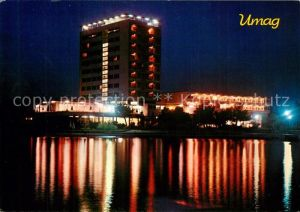 AK / Ansichtskarte Umag_Umago_Istrien Hotel Adriatic Nachtaufnahme Umag_Umago_Istrien