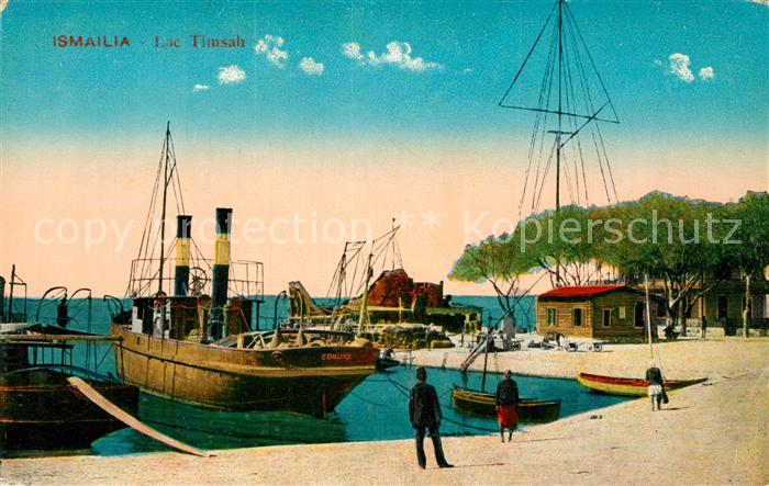 AK / Ansichtskarte Ismailia Hafen von Lac Timsah Ismailia